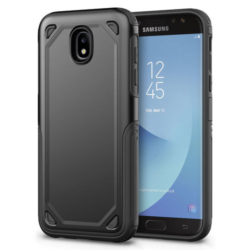 Hybrid Guard Shockproof Plate Case for Samsung Galaxy J7 Pro (Black)